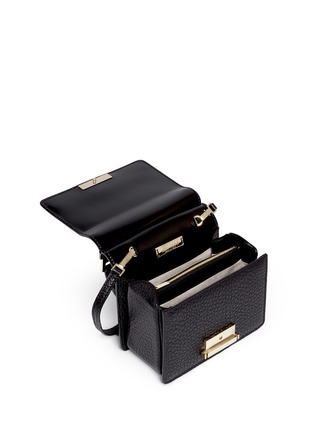 Detail View - Click To Enlarge - Jimmy Choo - 'Amie S' small mixed leather boxy tote