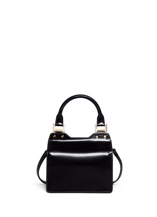 Back View - Click To Enlarge - Jimmy Choo - 'Amie S' small mixed leather boxy tote