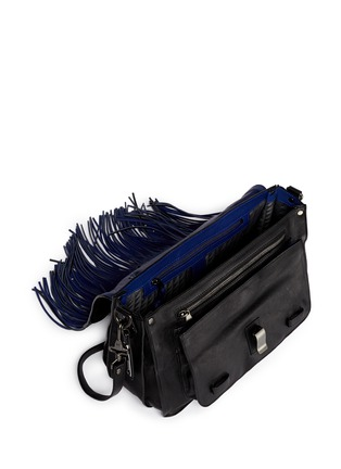 Detail View - Click To Enlarge - Proenza Schouler - 'PS1 Pouch Fringe' medium leather satchel