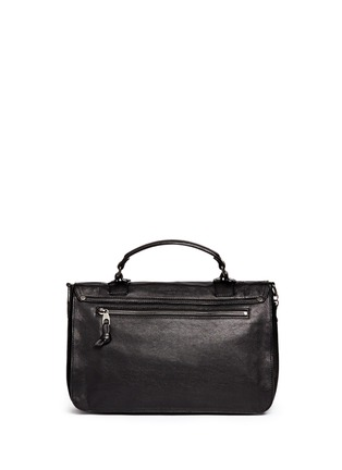 Back View - Click To Enlarge - Proenza Schouler - 'PS1 Pouch Fringe' medium leather satchel
