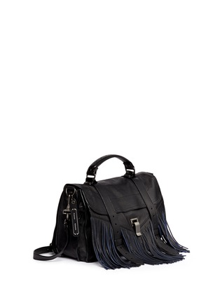 Figure View - Click To Enlarge - Proenza Schouler - 'PS1 Pouch Fringe' medium leather satchel