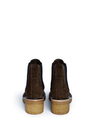 Back View - Click To Enlarge - Dries Van Noten - Suede Chelsea boots