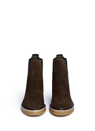 Front View - Click To Enlarge - Dries Van Noten - Suede Chelsea boots