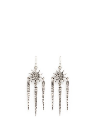 Main View - Click To Enlarge - Lulu Frost - 'Nova' glass crystal pavé drop earrings