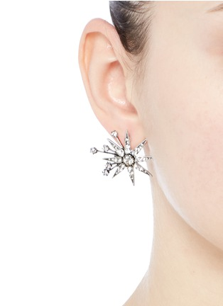 Figure View - Click To Enlarge - LULU FROST - 'Nova' glass crystal pavé star stud earrings