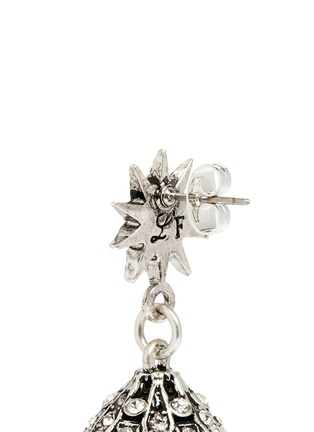 Detail View - Click To Enlarge - Lulu Frost - 'Electra' pavé glass pearl drop earrings