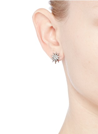 Figure View - Click To Enlarge - Lulu Frost - 'Electra' glass crystal pavé star stud earrings