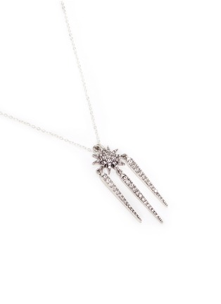 Detail View - Click To Enlarge - Lulu Frost - 'Nova' glass crystal pavé spike pendant necklace