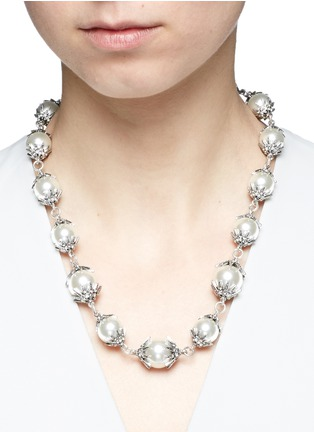 Figure View - Click To Enlarge - Lulu Frost - 'Electra' pavé glass pearl necklace