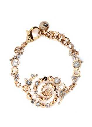Main View - Click To Enlarge - Lulu Frost - 'Infinite' glass crystal faux pearl swirl bracelet