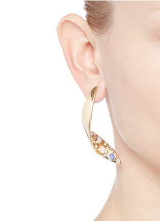Figure View - Click To Enlarge - Lulu Frost - 'Sequence' gemstone cabochon drop earrings