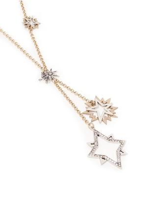 Detail View - Click To Enlarge - Lulu Frost - 'Nova' asymmetric star pavé necklace