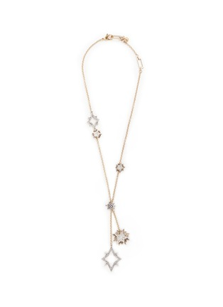 Main View - Click To Enlarge - Lulu Frost - 'Nova' asymmetric star pavé necklace
