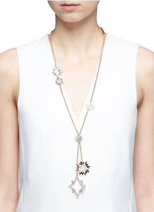 Figure View - Click To Enlarge - Lulu Frost - 'Nova' asymmetric star pavé necklace