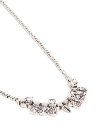 Detail View - Click To Enlarge - Joomi Lim - 'Organized Chaos' Swarovski crystal box chain necklace