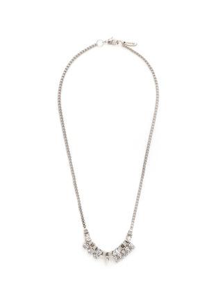 Main View - Click To Enlarge - Joomi Lim - 'Organized Chaos' Swarovski crystal box chain necklace