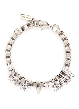 Main View - Click To Enlarge - Joomi Lim - 'Organized Chaos' Swarovski crystal box chain bracelet