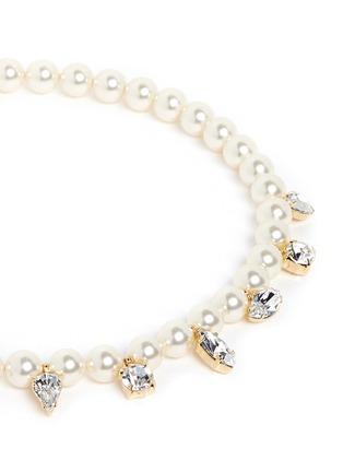Detail View - Click To Enlarge - Joomi Lim - 'Screw U' Swarovski crystal pearl necklace