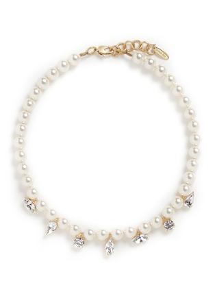 Main View - Click To Enlarge - Joomi Lim - 'Screw U' Swarovski crystal pearl necklace