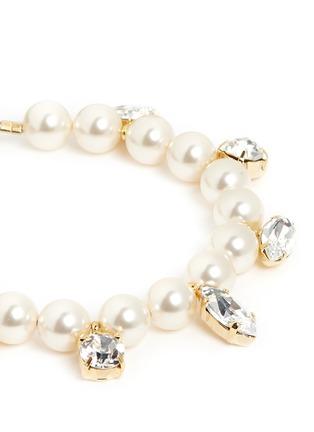 Detail View - Click To Enlarge - JOOMI LIM - 'Screw U' Swarovski crystal faux pearl bracelet