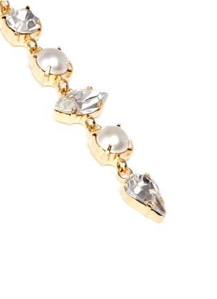Detail View - Click To Enlarge - Joomi Lim - 'Screw U' asymmetric Swarovski pearl drop earrings