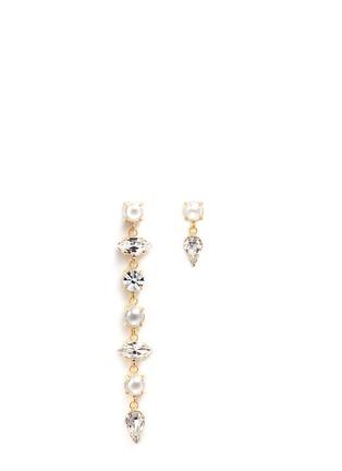 Main View - Click To Enlarge - Joomi Lim - 'Screw U' asymmetric Swarovski pearl drop earrings