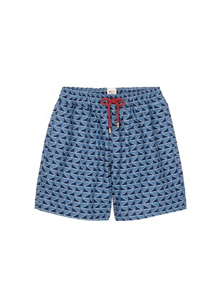 Main View - Click To Enlarge - MĀZŬ - 'Qing Dynasty' triangle print swim shorts