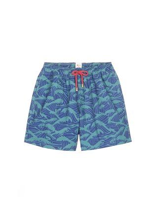 Main View - Click To Enlarge - Māzŭ - 'Philippine Sea' wave print swim shorts