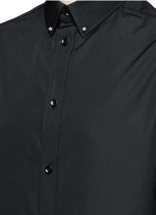 Detail View - Click To Enlarge - Balenciaga - Stud collar cotton shirt