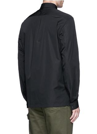 Back View - Click To Enlarge - Balenciaga - Stud collar cotton shirt