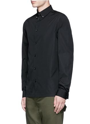 Front View - Click To Enlarge - Balenciaga - Stud collar cotton shirt