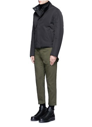 Figure View - Click To Enlarge - Balenciaga - Stud collar cotton shirt
