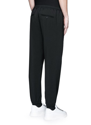 Back View - Click To Enlarge - BALENCIAGA - Wool gabardine jogging pants