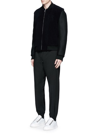 Figure View - Click To Enlarge - BALENCIAGA - Wool gabardine jogging pants