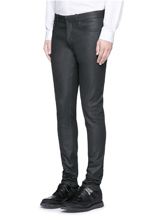 Front View - Click To Enlarge - Balenciaga - Slim fit coated denim jeans