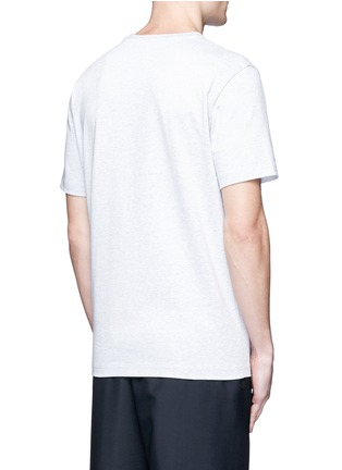 Back View - Click To Enlarge - Balenciaga - Leather patch pocket cotton T-shirt