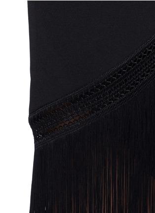 Detail View - Click To Enlarge - Nicholas - Macramé fringe crepe wrap dress