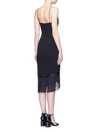 Back View - Click To Enlarge - Nicholas - Macramé fringe crepe wrap dress