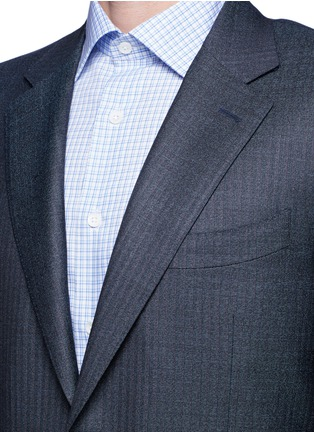 Detail View - Click To Enlarge - Canali - 'Contemporary' stripe wool suit