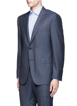 Front View - Click To Enlarge - Canali - 'Contemporary' stripe wool suit
