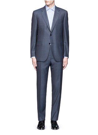 Main View - Click To Enlarge - Canali - 'Contemporary' stripe wool suit
