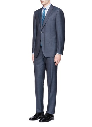 Figure View - Click To Enlarge - Canali - 'Contemporary' stripe wool suit
