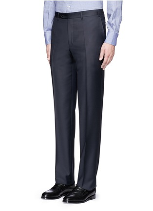 Front View - Click To Enlarge - Canali - Water-resistant wool pants