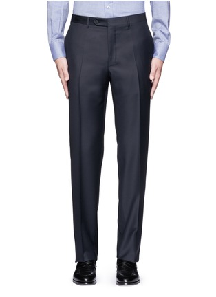 Main View - Click To Enlarge - Canali - Water-resistant wool pants