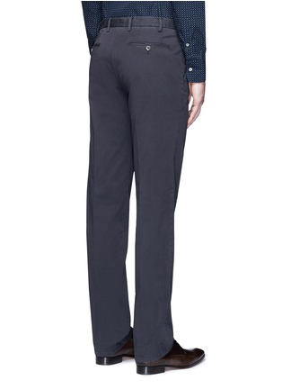 Back View - Click To Enlarge - Canali - Regular fit stretch cotton chinos