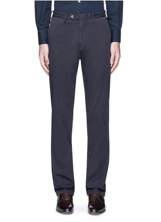 Main View - Click To Enlarge - Canali - Regular fit stretch cotton chinos