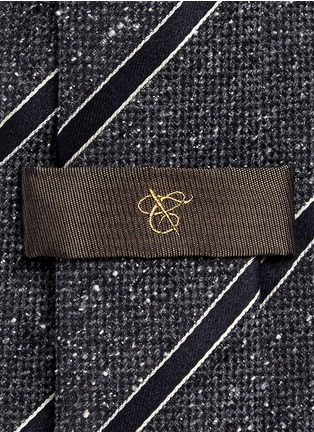 Detail View - Click To Enlarge - Canali - Stripe silk Donegal tweed tie