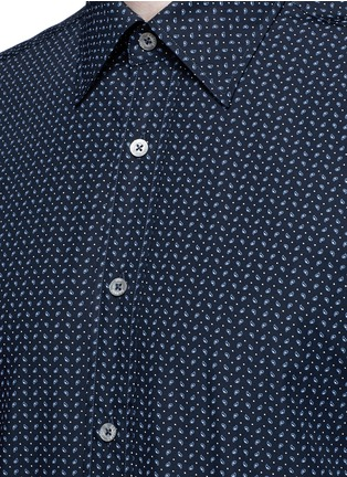 Detail View - Click To Enlarge - CANALI - Slim fit paisley print cotton shirt