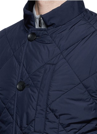 Detail View - Click To Enlarge - Canali - Reversible wool and quilted shell coat