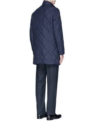 Back View - Click To Enlarge - Canali - Reversible wool and quilted shell coat